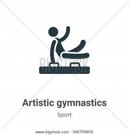 Artistic gymnastics icon isolated on white background from sport collection. Artistic gymnastics ico