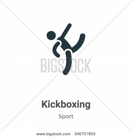 Kickboxing Glyph Icon Vector On White Background. Flat Vector Kickboxing Icon Symbol Sign From Moder