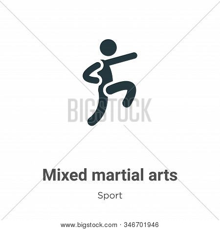 Mixed Martial Arts Glyph Icon Vector On White Background. Flat Vector Mixed Martial Arts Icon Symbol