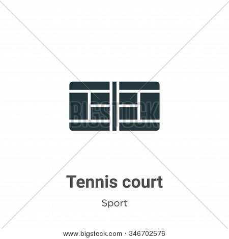 Tennis court icon isolated on white background from sport collection. Tennis court icon trendy and m