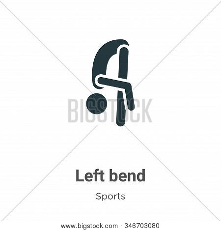 Left Bend Glyph Icon Vector On White Background. Flat Vector Left Bend Icon Symbol Sign From Modern
