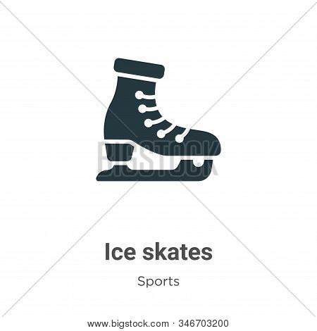 Ice skates icon isolated on white background from sports collection. Ice skates icon trendy and mode