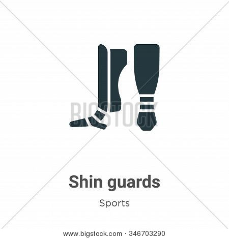Shin Guards Glyph Icon Vector On White Background. Flat Vector Shin Guards Icon Symbol Sign From Mod