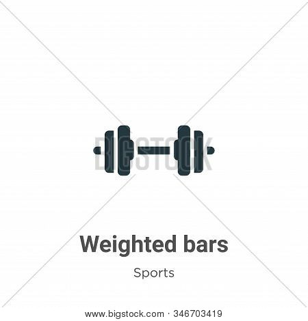 Weighted bars icon isolated on white background from sports collection. Weighted bars icon trendy an