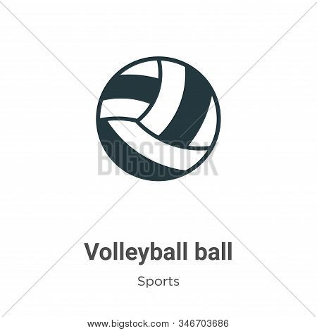 Volleyball ball icon isolated on white background from sports collection. Volleyball ball icon trend