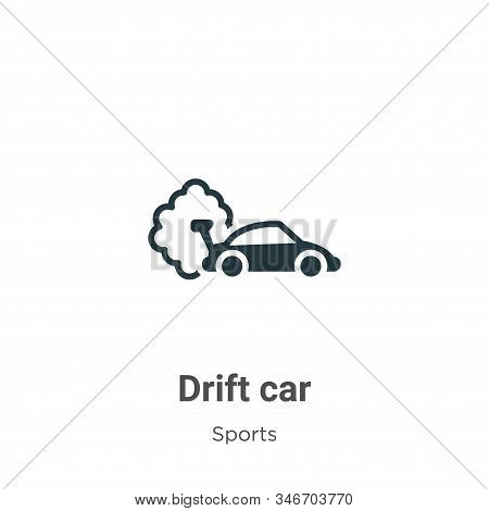 Drift car icon isolated on white background from sports collection. Drift car icon trendy and modern