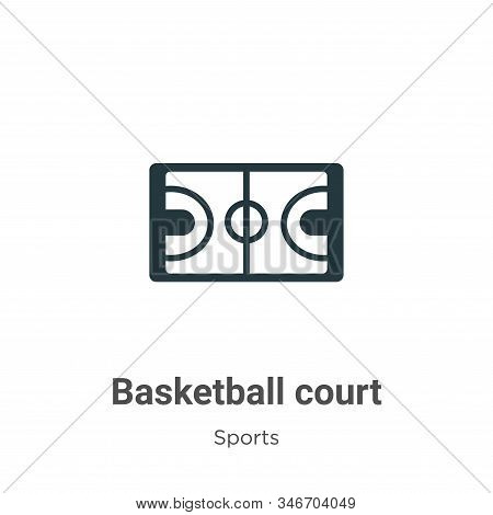 Basketball court icon isolated on white background from sports collection. Basketball court icon tre