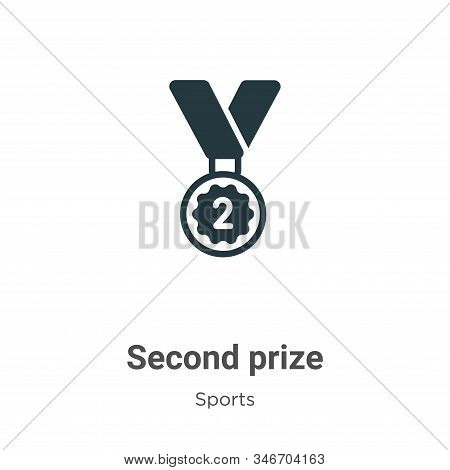 Second prize icon isolated on white background from sports collection. Second prize icon trendy and