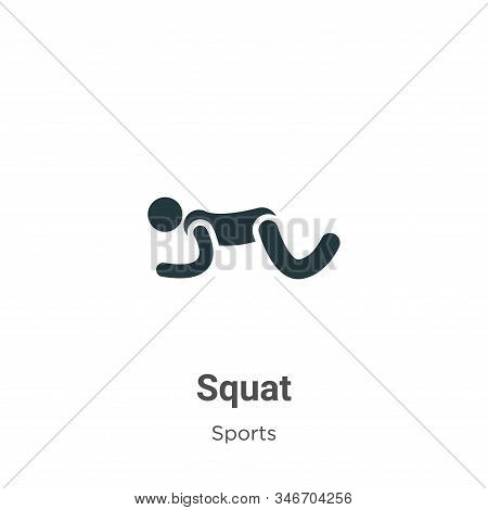 Squat icon isolated on white background from sports collection. Squat icon trendy and modern Squat s