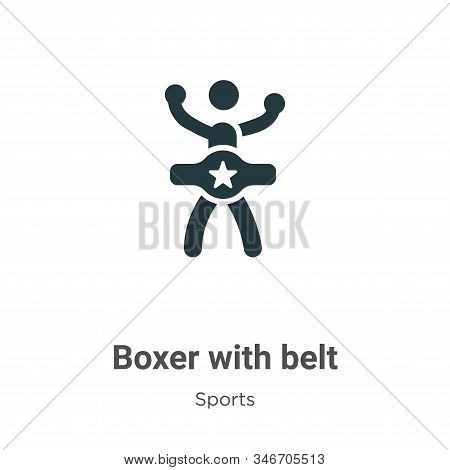 Boxer with belt icon isolated on white background from sports collection. Boxer with belt icon trend