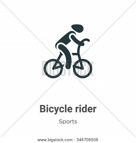 Bicycle rider icon isolated on white background from sports collection. Bicycle rider icon trendy an