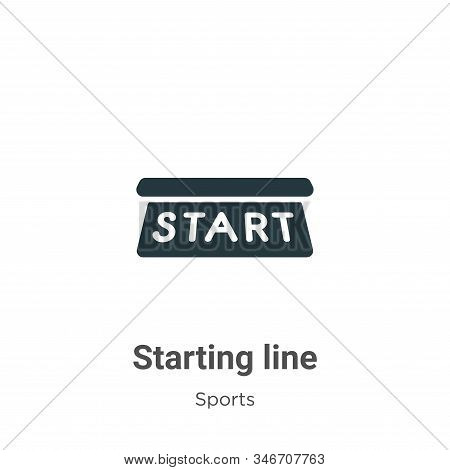 Starting line icon isolated on white background from sports and competition collection. Starting lin
