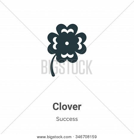 Clover icon isolated on white background from success collection. Clover icon trendy and modern Clov
