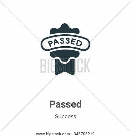 Passed icon isolated on white background from success collection. Passed icon trendy and modern Pass