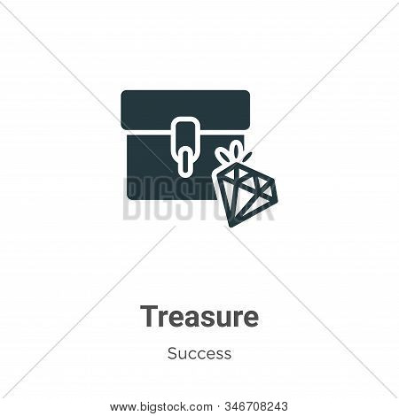 Treasure icon isolated on white background from success collection. Treasure icon trendy and modern