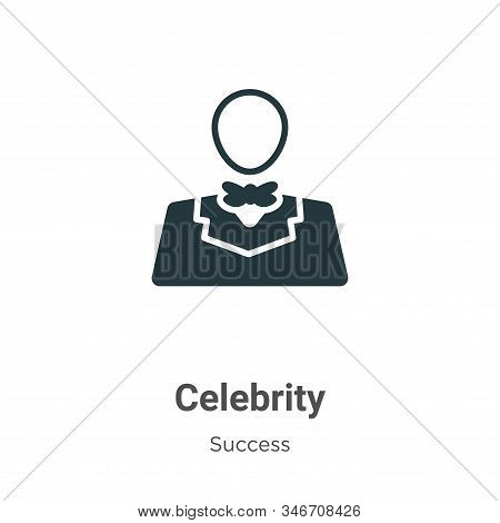 Celebrity icon isolated on white background from success collection. Celebrity icon trendy and moder