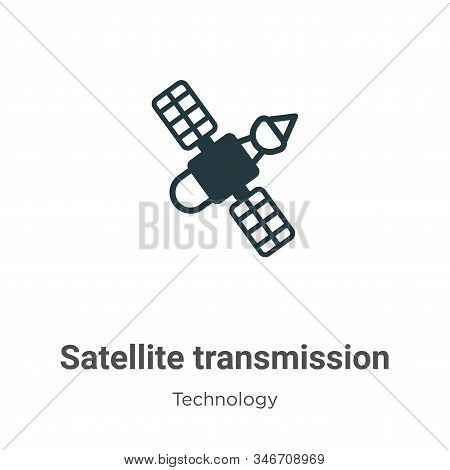 Satellite transmission icon isolated on white background from technology collection. Satellite trans