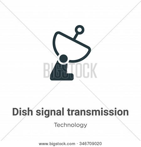 Dish signal transmission icon isolated on white background from technology collection. Dish signal t
