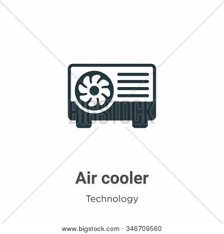 Air Cooler Glyph Icon Vector On White Background. Flat Vector Air Cooler Icon Symbol Sign From Moder