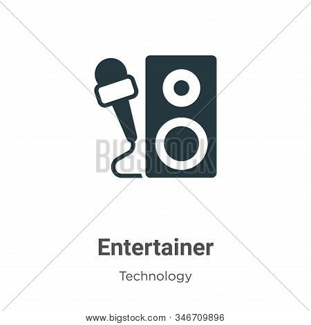 Entertainer icon isolated on white background from technology collection. Entertainer icon trendy an