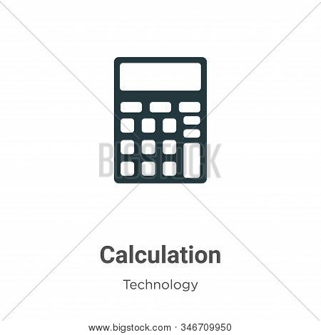 Calculation icon isolated on white background from technology collection. Calculation icon trendy an