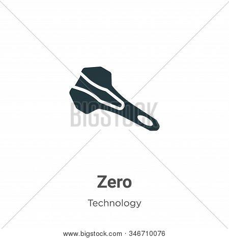 Zero icon isolated on white background from technology collection. Zero icon trendy and modern Zero