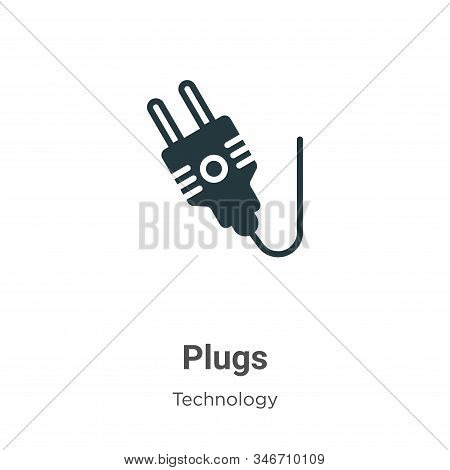 Plugs icon isolated on white background from technology collection. Plugs icon trendy and modern Plu