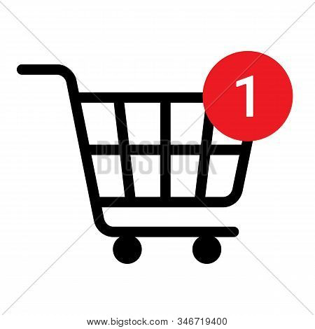 Shopping Cart Line Icon, Black Editable Stroke. Trolley, Basket Business Concept. Shopping Cart With