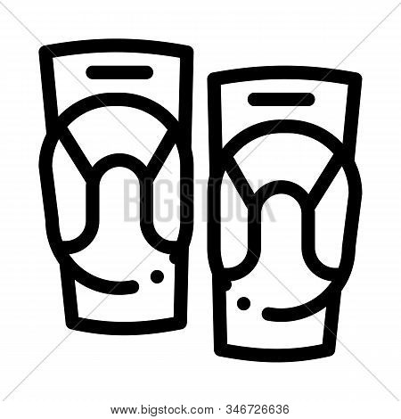 Joint Ointment Icon Vector. Outline Joint Ointment Sign. Isolated Contour Symbol Illustration