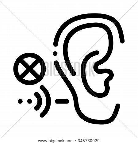 Hearing Impairment Icon Vector. Outline Hearing Impairment Sign. Isolated Contour Symbol Illustratio
