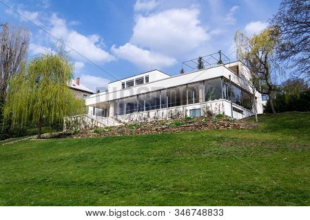 Exterior Of The Villa Tugendhat By Architect Ludwig Mies Van Der Rohe Built In 1929-1930, Modern Fun