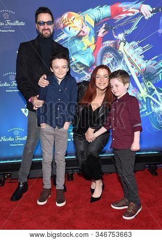 LOS ANGELES - JAN 21:  Annie Wersching, Stephen Full, Freddie Wersching Full and Ozzie Wersching Full arrives for Cirque du Soleil's VOLTA Los Angeles Premier on January 21, 2020 in Los Angeles, CA