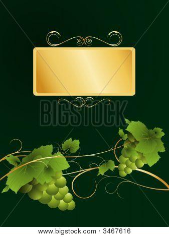 Wine Label Style Background