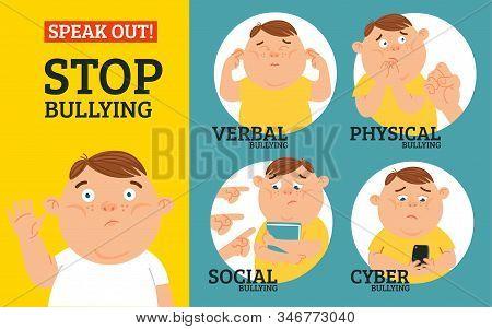 Stop Verbal, Social, Physical, Cyberbullying In School