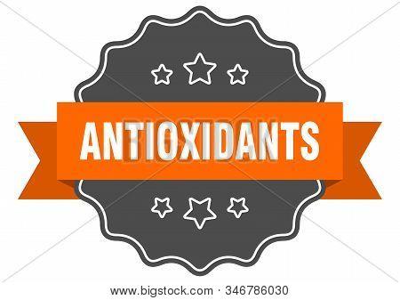 Antioxidants Isolated Seal. Antioxidants Orange Label. Antioxidants