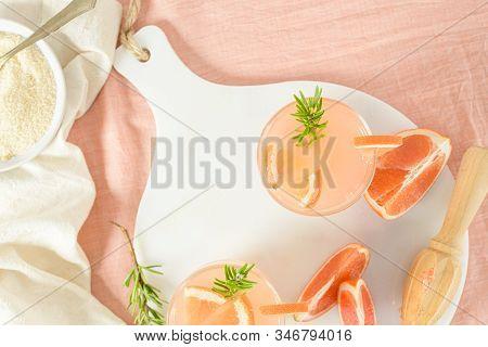 Grapefruit Juice With Rosemary