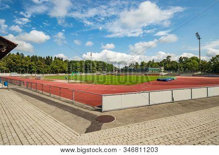 Bern, Stadion Neufeld, Switzerland - July 27, 2019: Multi-use Stadium. Home Ground Of Fc Bern And Th