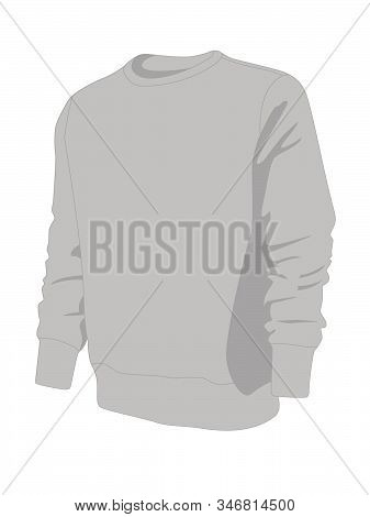 Pullover  Grey Realistic Vector Illustration Isolated No Background