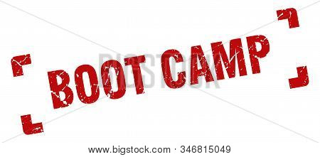 Boot Camp Stamp. Boot Camp Square Grunge Sign. Boot Camp