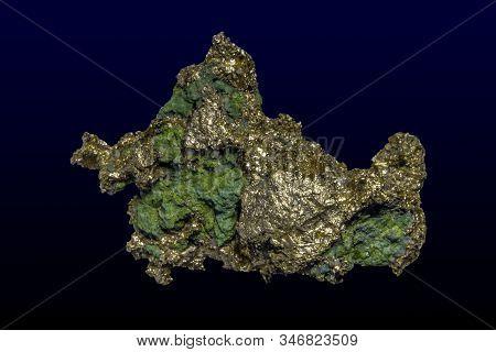 A Nugget Of Native Copper Mineral .close Up