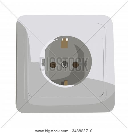 Power Socket Realistic Vector Illustration Isolated No Background