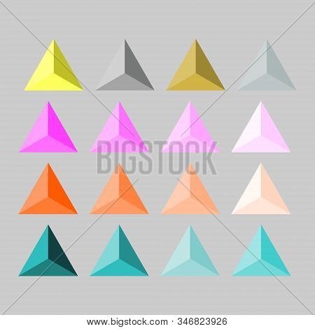 Fashion, Clothing And Decor: Triangular Pyramidal Rhinestones, Spikes, Buttons Gold, Silver, Steel,