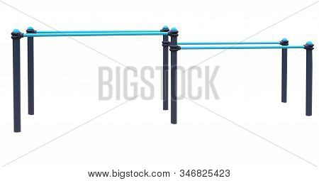 New Metal  Parallel Bars On White Background