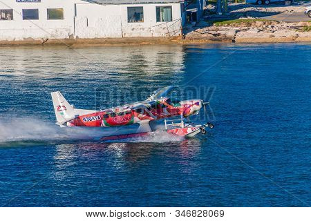 Miami, Florida - November 26, 2017: A Seaplane Is A Fixed-wing Aircraft Capable Of Taking Off And La