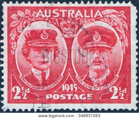 Saint Petersburg, Russia - January 21, 2020: Postage Stamp Printed In Australia With The Image Of Du