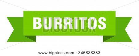 Burritos Ribbon. Burritos Isolated Sign. Burritos Banner