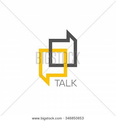 Symbol Vector Of Letter Pd Talk Frame Design