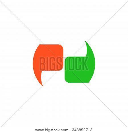 Letter Pd Geometric Clear Talk Symbol Logo Vector