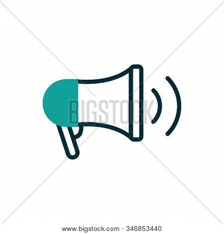 Megaphone Icon Design, Amplifer Speaker Bullhorn Announce Speech Message Communication And Loud Them