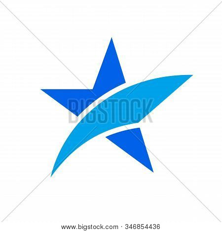 Save Download Preview Star Logo. Positive Star Running. Rise Fall Stars.star Vector Color Logo, Star